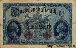 5 Mark ALLEMAGNE  1914 P.047c TB