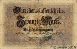20 Mark ALLEMAGNE  1914 P.048a TB