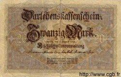 20 Mark ALLEMAGNE  1914 P.048b TB