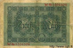 50 Mark ALLEMAGNE  1914 P.049b TB