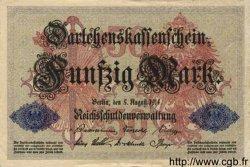 50 Mark ALLEMAGNE  1914 P.049b SUP à SPL