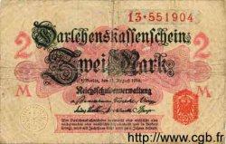 2 Mark ALLEMAGNE  1914 P.053 B