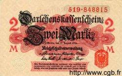 2 Mark ALLEMAGNE  1914 P.053 pr.NEUF