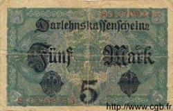 5 Mark ALLEMAGNE  1917 P.056b TB