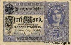 5 Mark ALLEMAGNE  1917 P.056b SPL