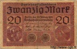 20 Mark ALLEMAGNE  1918 P.057 TB