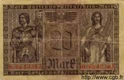 20 Mark ALLEMAGNE  1918 P.057 TTB