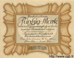 50 Mark ALLEMAGNE  1918 P.065 SPL+