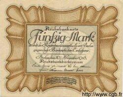 50 Mark ALLEMAGNE  1918 P.065 TTB