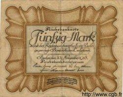 50 Mark ALLEMAGNE  1918 P.065