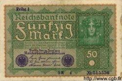 50 Mark ALLEMAGNE  1919 P.066 TB