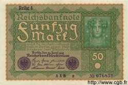 50 Mark ALLEMAGNE  1919 P.066 SPL