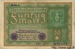 50 Mark ALLEMAGNE  1919 P.066 B+
