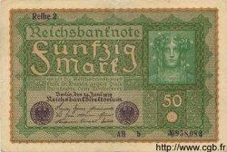50 Mark ALLEMAGNE  1919 P.066 TTB