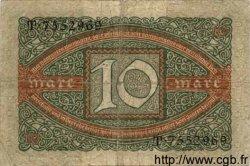 10 Mark ALLEMAGNE  1920 P.067a B+
