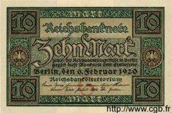 10 Mark ALLEMAGNE  1920 P.067a SPL