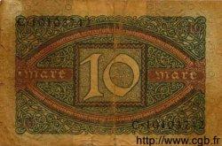 10 Mark ALLEMAGNE  1920 P.067a B à TB
