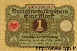 1 Mark ALLEMAGNE  1920 P.058 SUP
