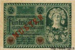 50 Mark ALLEMAGNE  1920 P.068s pr.NEUF