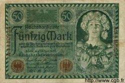 50 Mark ALLEMAGNE  1920 P.068 B+