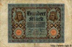 100 Mark ALLEMAGNE  1920 P.069a B