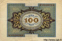 100 Mark ALLEMAGNE  1920 P.069a TB