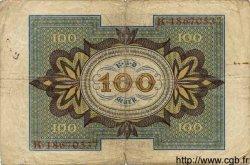 100 Mark ALLEMAGNE  1920 P.069b B