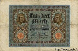 100 Mark ALLEMAGNE  1920 P.069b TB