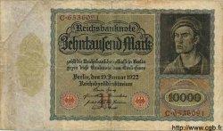 10000 Mark ALLEMAGNE  1922 P.070 B