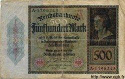 500 Mark ALLEMAGNE  1922 P.073 AB