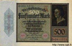 500 Mark ALLEMAGNE  1922 P.073 SUP