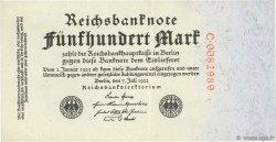500 Mark ALLEMAGNE  1922 P.074a pr.SPL