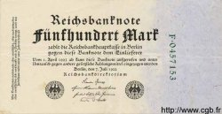500 Mark ALLEMAGNE  1922 P.074b SUP