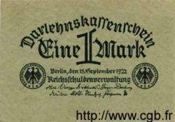 1 Mark ALLEMAGNE  1922 P.061a TTB