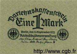 1 Mark ALLEMAGNE  1922 P.061a SPL