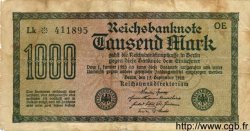 1000 Mark ALLEMAGNE  1922 P.076a B+