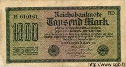 1000 Mark ALLEMAGNE  1922 P.076a B à TB