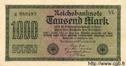1000 Mark ALLEMAGNE  1922 P.076a pr.NEUF