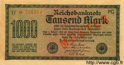 1000 Mark ALLEMAGNE  1922 P.076s SPL