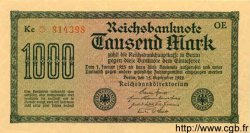 1000 Mark ALLEMAGNE  1922 P.076var SPL+