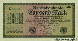 1000 Mark ALLEMAGNE  1922 P.076h TTB à SUP