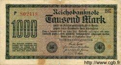 1000 Mark ALLEMAGNE  1922 P.076c B