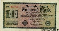 1000 Mark ALLEMAGNE  1922 P.076g TTB