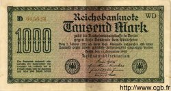 1000 Mark ALLEMAGNE  1922 P.076var TTB