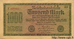 1000 Mark ALLEMAGNE  1922 P.076var B