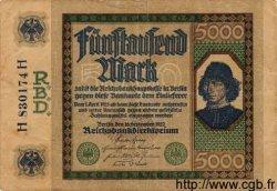 5000 Mark ALLEMAGNE  1922 P.077 TB