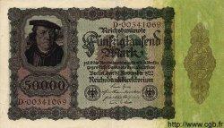 50000 Mark ALLEMAGNE  1922 P.080 TTB