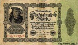 50000 Mark ALLEMAGNE  1922 P.079 B