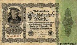 50000 Mark ALLEMAGNE  1922 P.079 TB