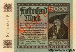 5000 Mark ALLEMAGNE  1922 P.081bs NEUF